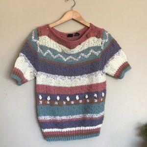Liz Claiborne knit vintage cozy multicolor sweater